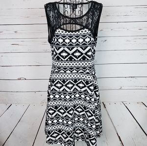 Vibe Sportswear Dress with Lace Detail
